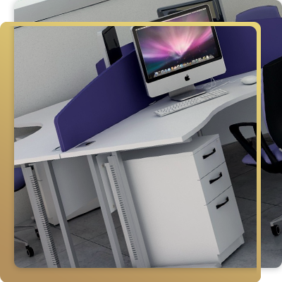 Flexi desk in office